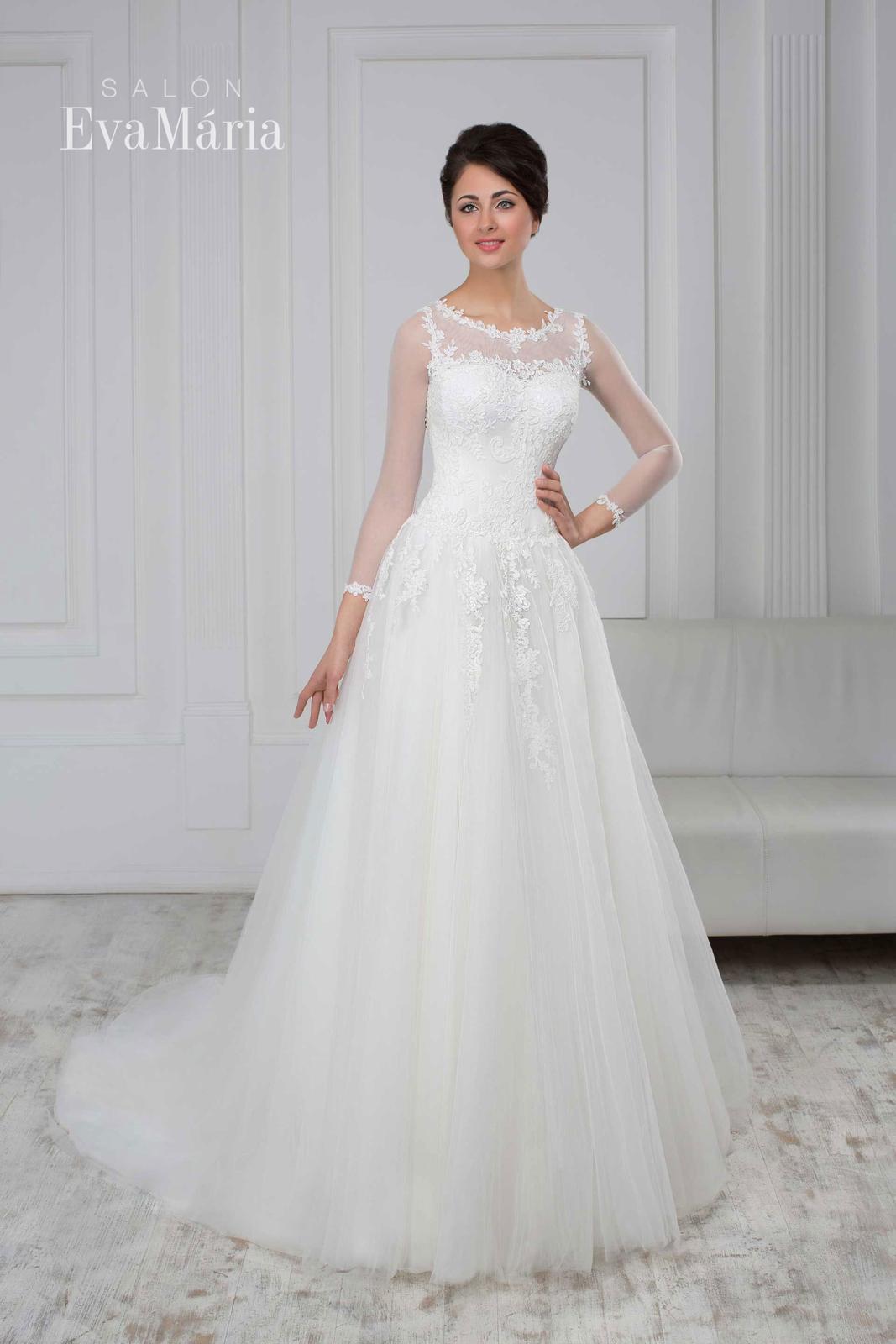 ae0a04cc9419 Svadobné šaty s 3 4 rukávom