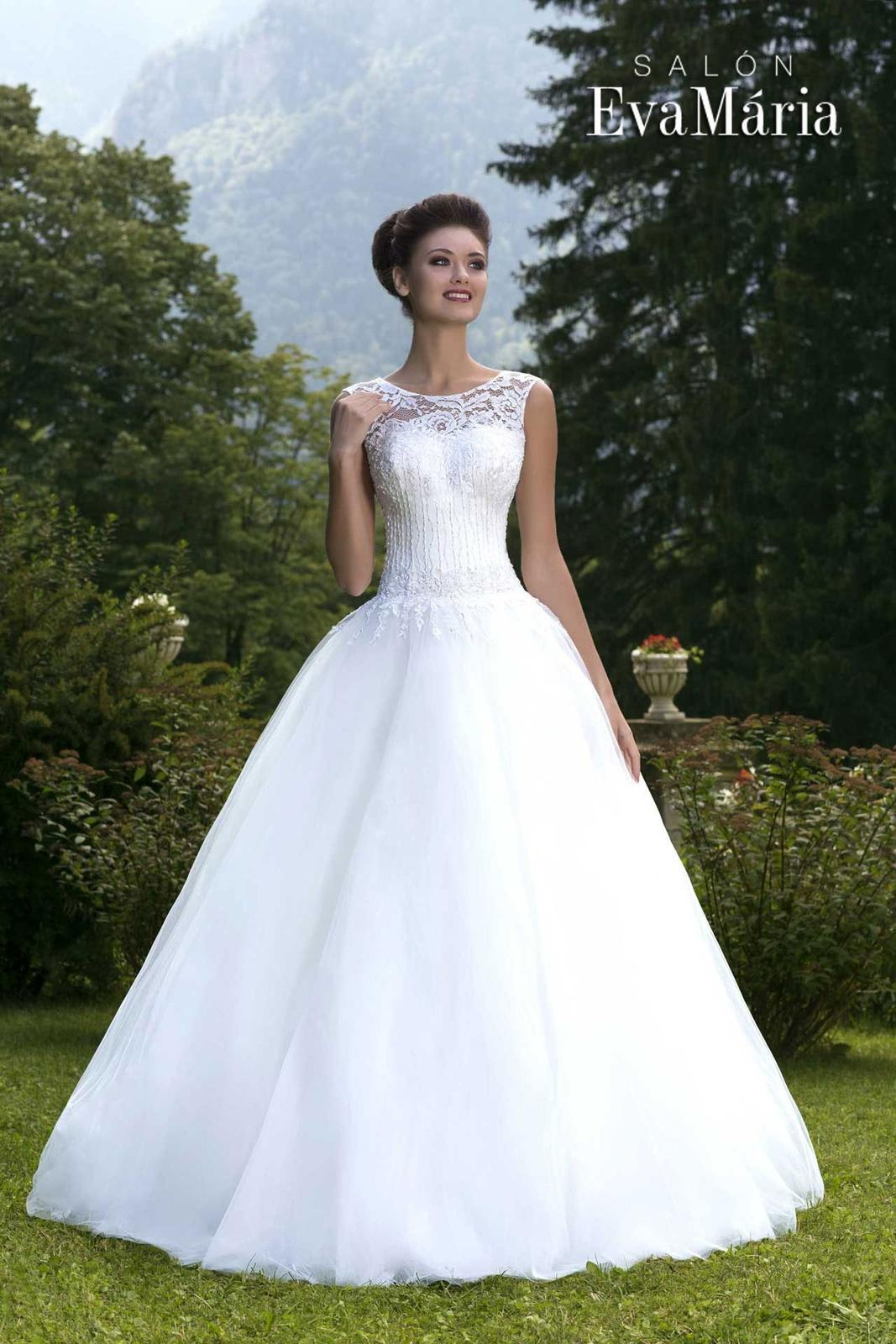 c3cc328adbe2 Svadobné šaty so širokou sukňou