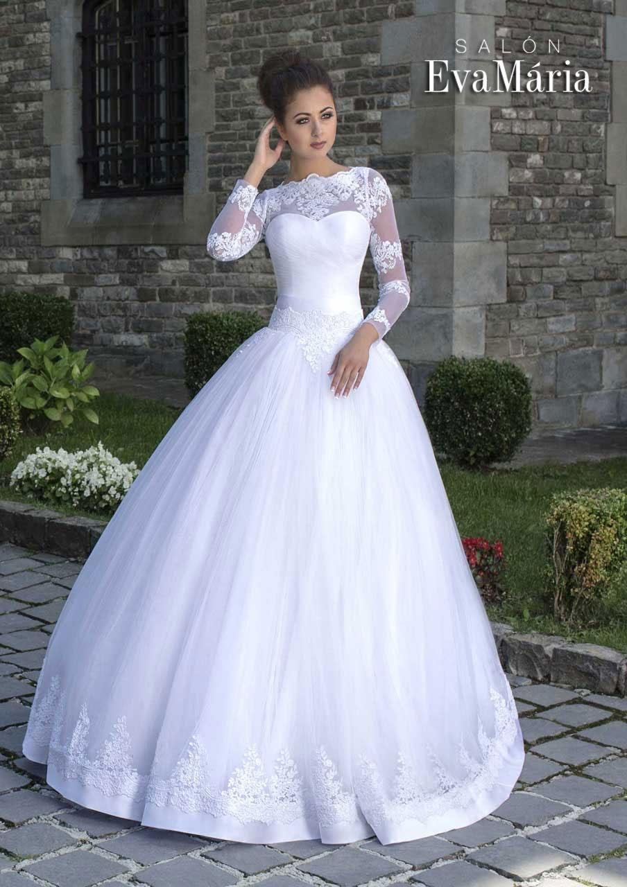 Svadobné šaty so sukňou zdobenou čipkou - na mieru b8708787f26