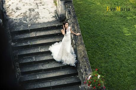 Čipkované svadobné šaty - ihneď k odberu, 36