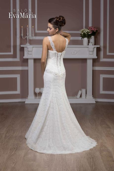 Čipkované svadobné šaty - real foto - na mieru, 36