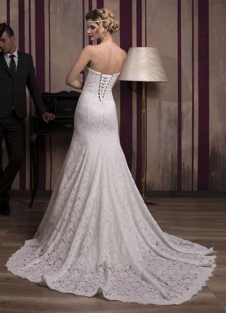Čipkované úzke svadobné šaty na mieru, 34