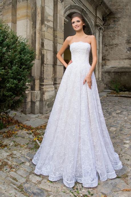 Čipkové svadobné šaty na mieru, 42