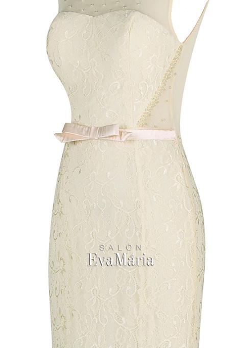 Dlhé čipkované večerné šaty, 34