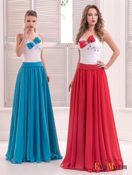 Dlhé plesové šaty s mašľou na korzete, 34