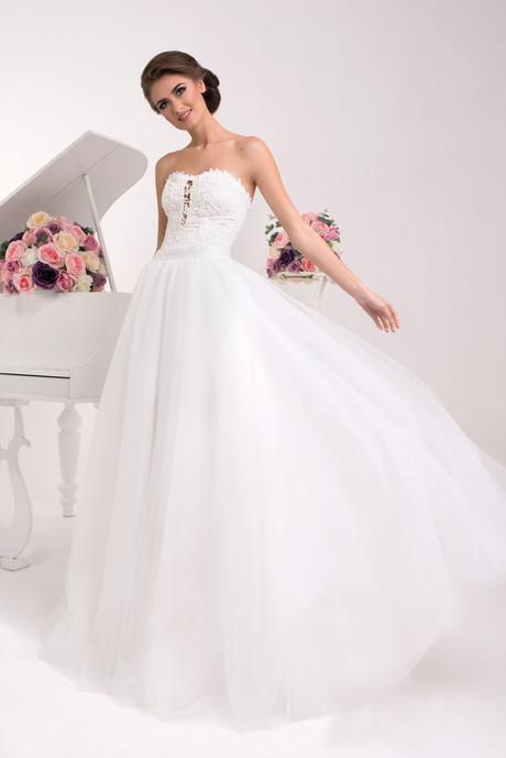 Dvojdielne svadobné šaty - na mieru, 34