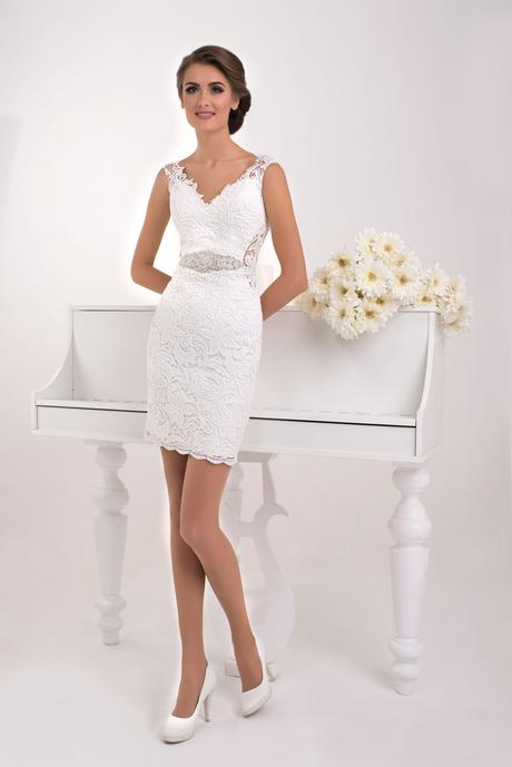 Dvojdielne svadobné šaty - na mieru, 36