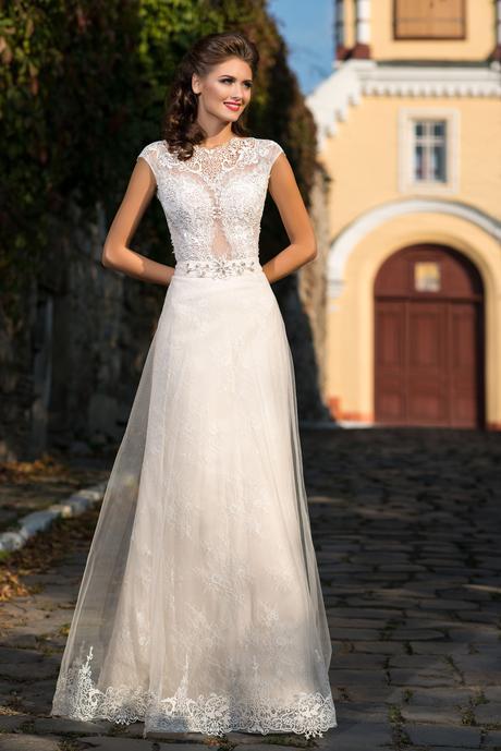 Dvojdielne svadobné šaty - na mieru, 38