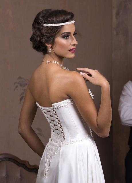 Elegantné svadobné šaty s perličkami šité na mieru, 34