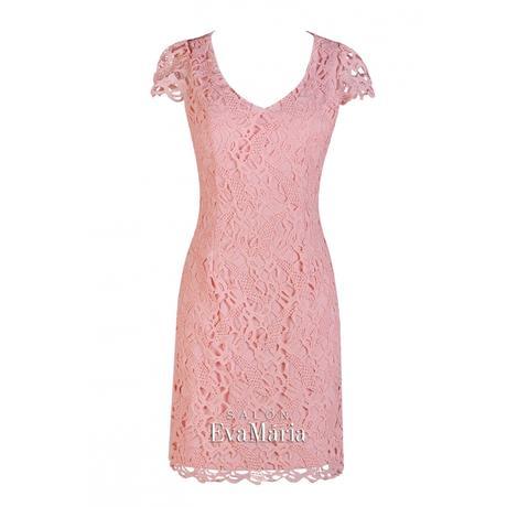 Koktejlové staroružové čipkované šaty, 36