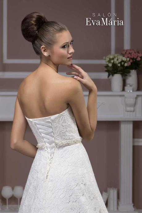 Krajkované svadobné šaty - real foto - na mieru, 36
