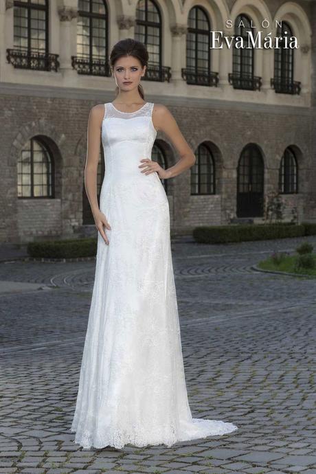 Krajkované svadobné šaty - real foto - na mieru, 38