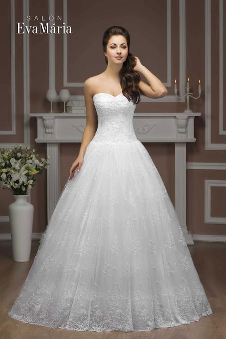 Krajkované svadobné šaty - real foto - na mieru, 40