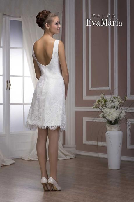 Krátke svadobné šaty - ihneď k odberu, 40