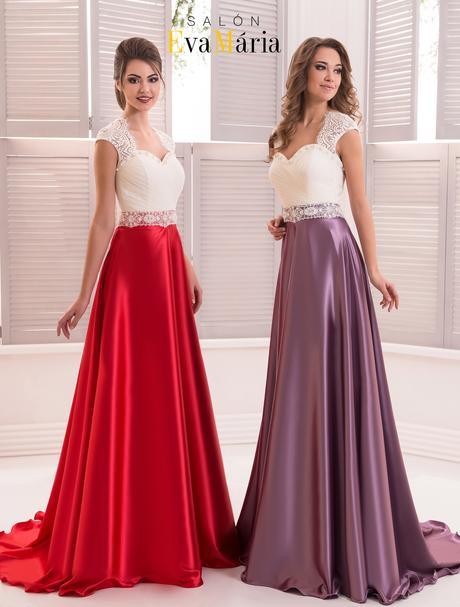 Kúzelné večerné šaty so saténovou sukňou, 34