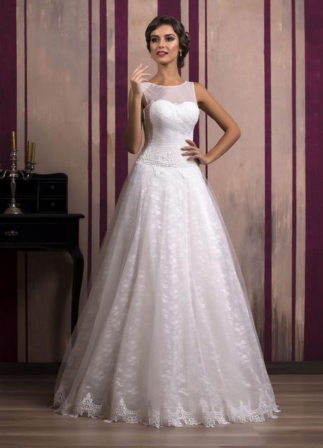 Luxusné čipkované svadobné šaty šité na mieru, 36