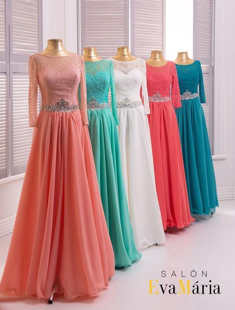 Luxusné večerné šaty s dlhými rukávmi, 34