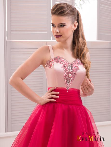 Luxusné večerné šaty zo širokou tylovou sukňou, 34