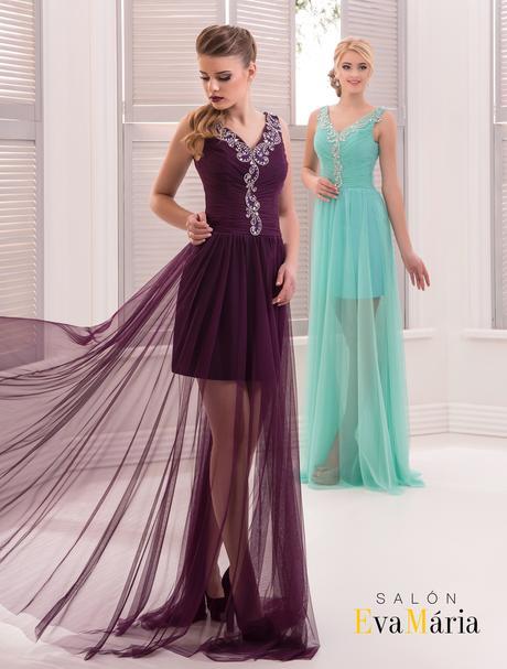 Nádherné spoločenské šaty zo zaujímavou sukňou, 38