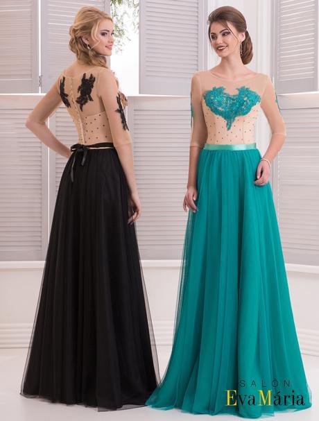 Nádherné večerné šaty s vyšívaným živôtikom, 36