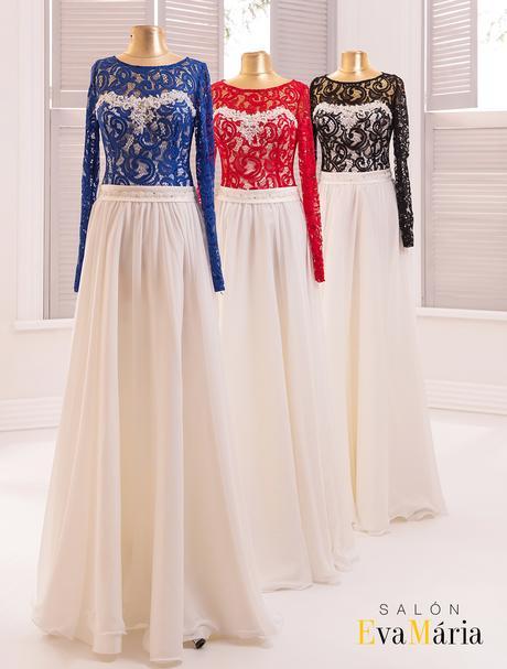 Okúzľujúce spločenské šaty s dlhými rukávmi, 38