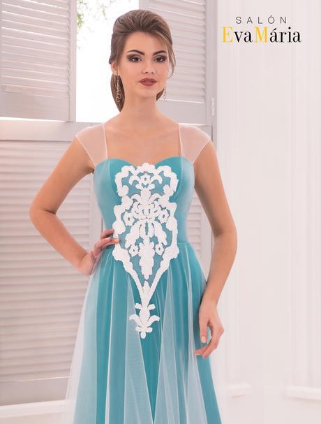 Okúzľujúce spoločenské šaty ozdobené opaskom, 34