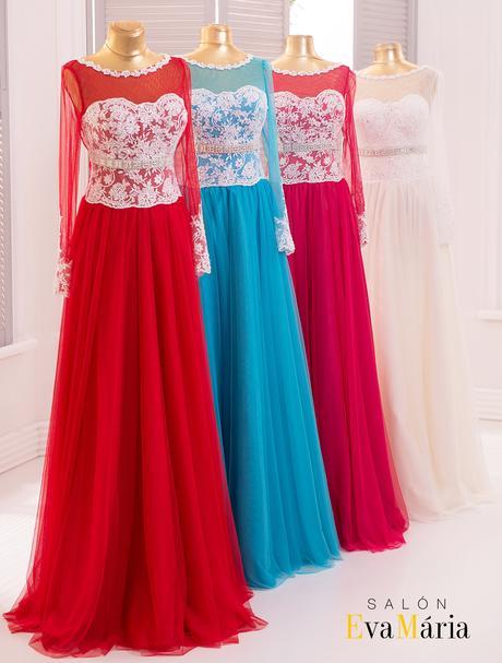 Pôvabné spoločenské šaty s dlhými rukávmi, 36
