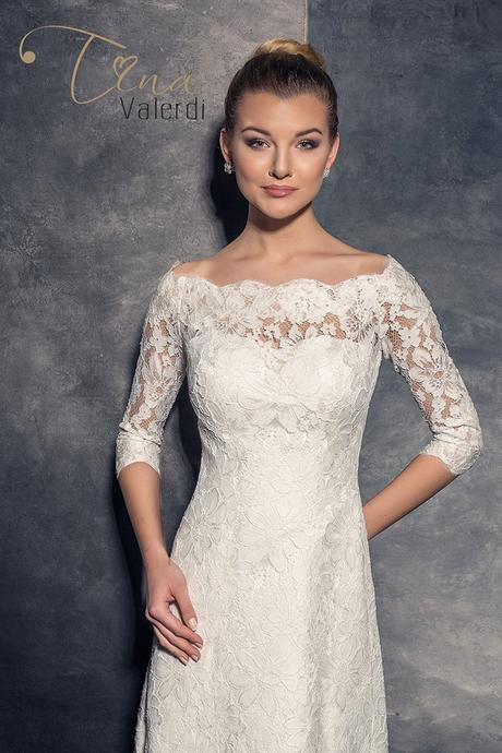 Predaj dlhých celočipkovaných svadobných šiat, 36