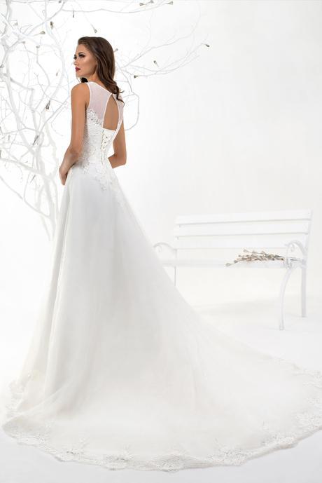 Prekrásne dlhé šifónové svadobné šaty na mieru , 40