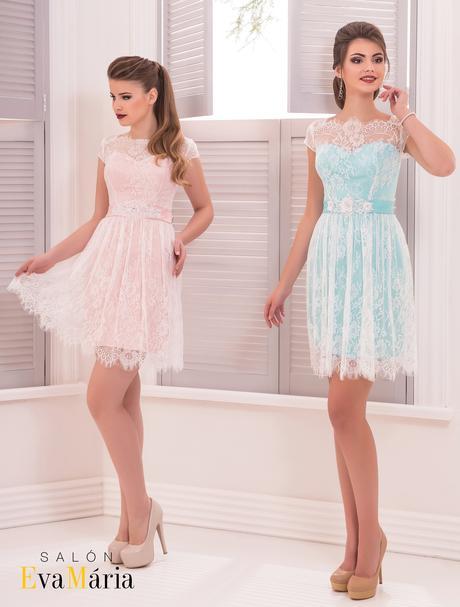 Prekrásne krátke čipkované šaty, 36