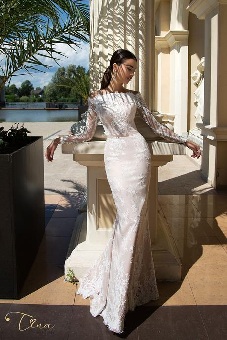 Prekrásne luxusné úzke čipkované svadobné šaty , 38