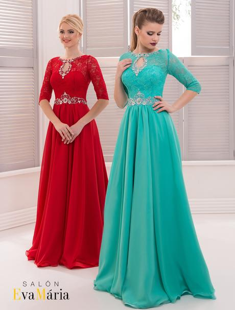 Prekrásne spoločenské šaty s čipkou a kamienkami, 36