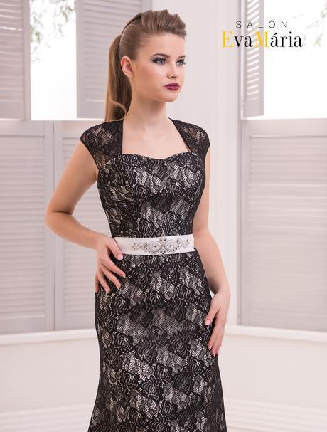 Prekrásne večerné šaty s mašľou na páse, 36