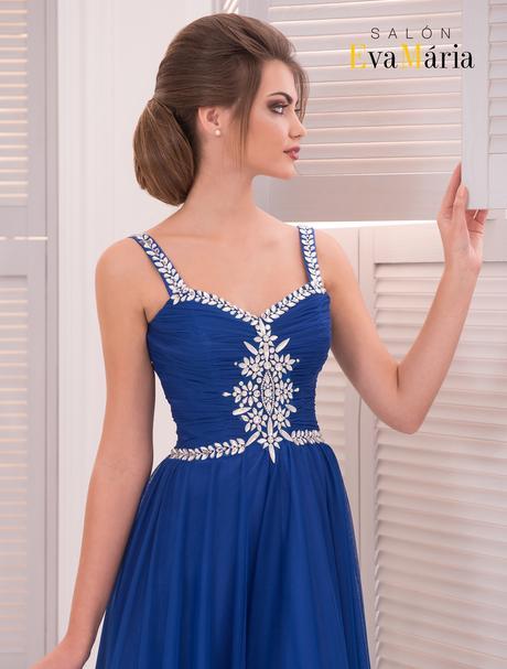 Romantické večerné šaty s kamienkovým zdobením, 34