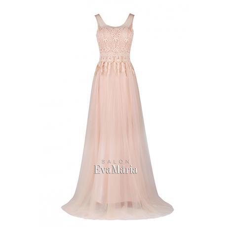 Ružové spoločenské šaty s čipkovaným živôtikom, 36
