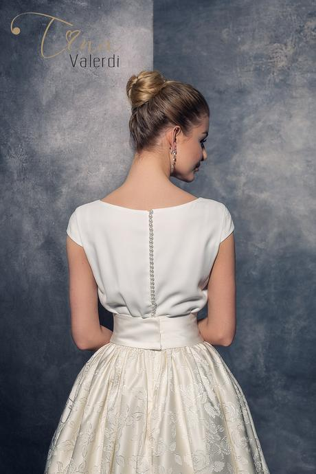 Štýlové luxusné svadobné šaty šité na mieru, 38