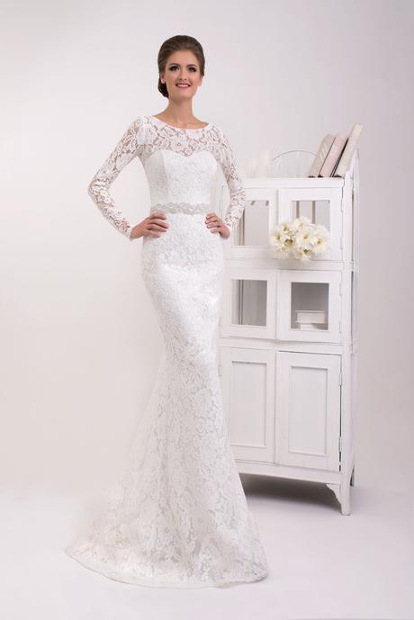 Svadobné šaty morská panna - na mieru, 38
