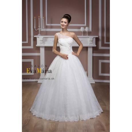Svadobné šaty na jedno ramienko - na mieru, 36