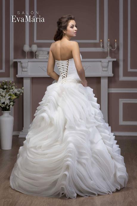 Svadobné šaty na viazačku - real foto - na mieru, 36