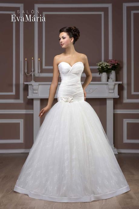 Svadobné šaty - real foto - na mieru, 36