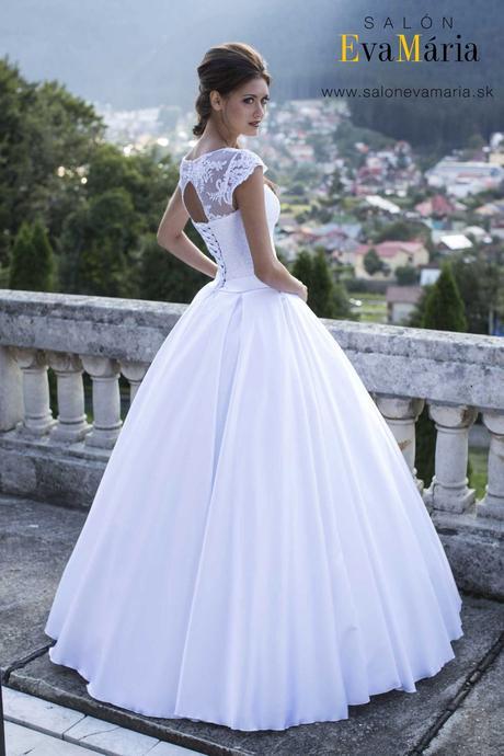 Svadobné šaty s čipkou - ihneď k odberu, 36