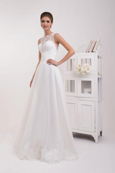 Svadobné šaty s čipkou - na mieru, 38