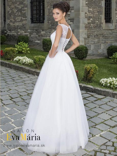 Svadobné šaty s čipkou - real foto - na mieru, 36