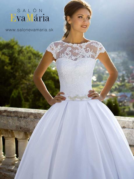 Svadobné šaty s čipkou - real foto - na mieru, 38