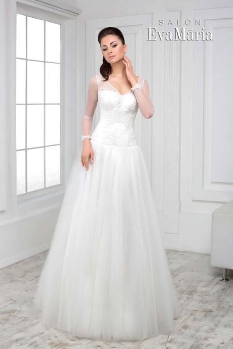 Svadobné šaty s dlhým rukávom - na mieru, 38