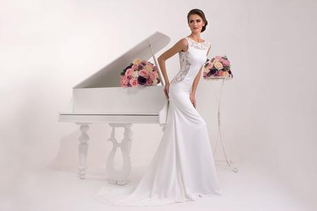 Svadobné šaty s holým chrbátom - na mieru, 38