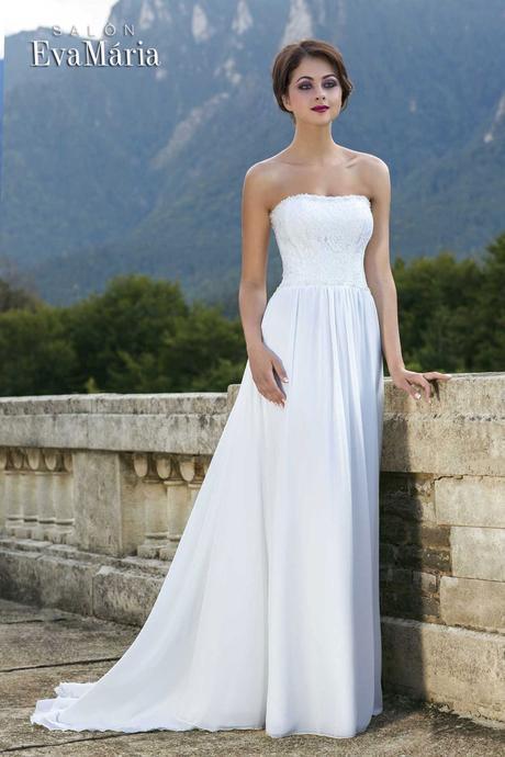 Svadobné šaty s krajkovaným vrškom - na mieru, 38