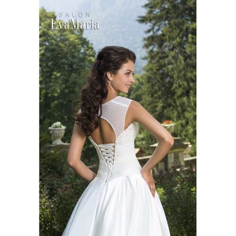 Svadobné šaty s krajkovaným živôtikom - na mieru, 36
