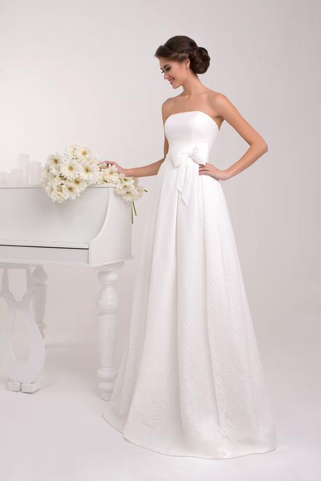 Svadobné šaty s mašľou - na mieru, 38