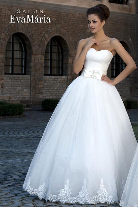 Svadobné šaty s mašľou - real foto - na mieru, 40